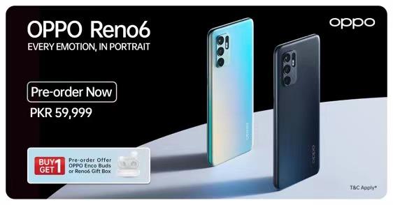 oppo reno6 price in Pakistan